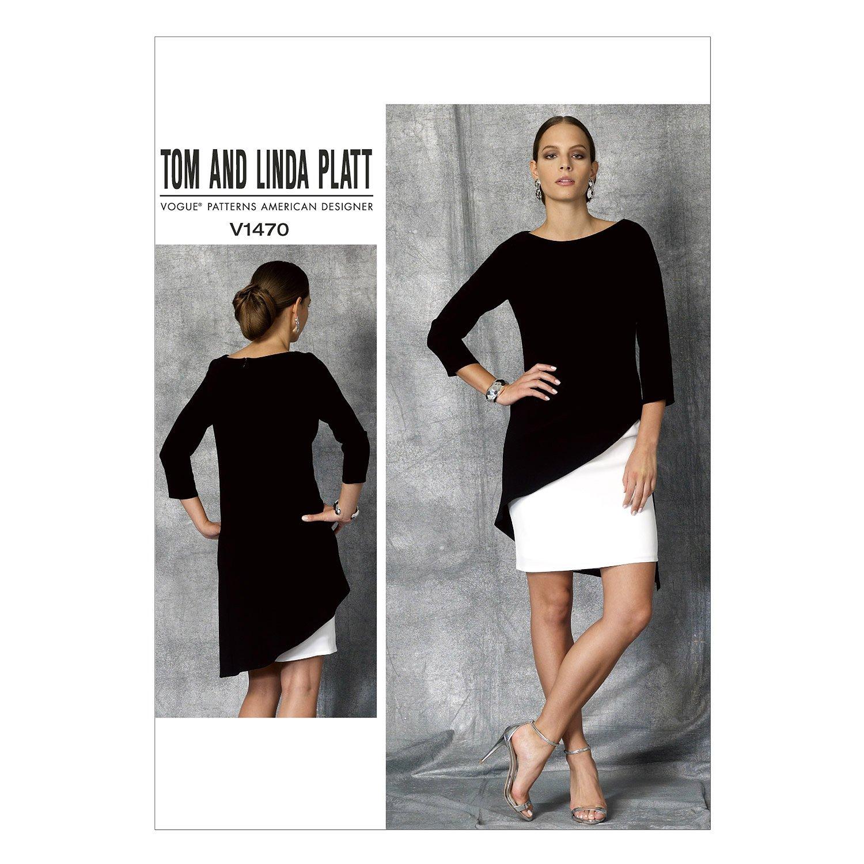 Vogue Mustern 1470 E5 Größen 14–22 Misses Kleid Schnittmuster ...