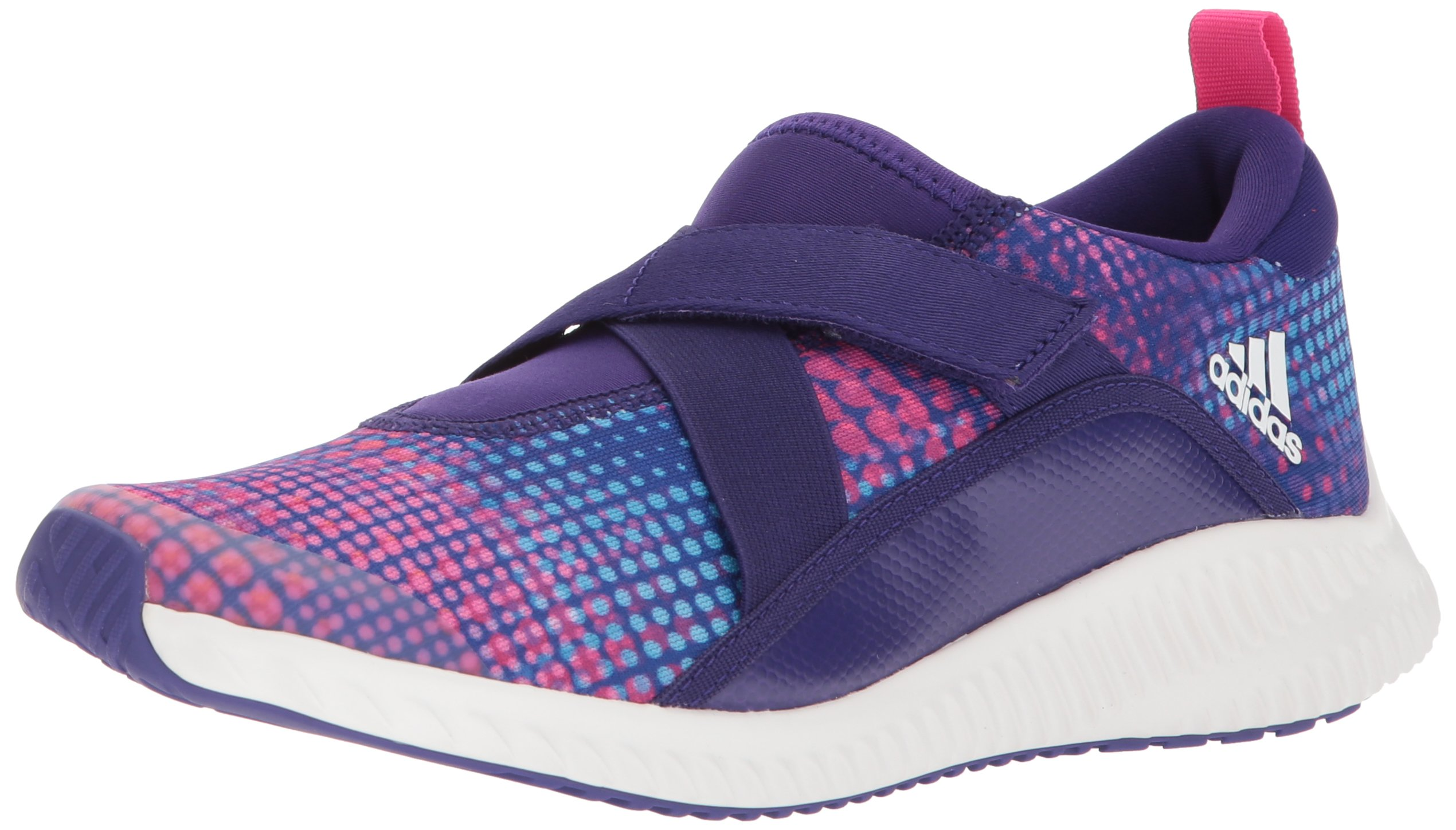 adidas Unisex-Kids Fortarun Sneaker, Collegiate Purple,White, Shock Pink, 1.5 M US Little Kid