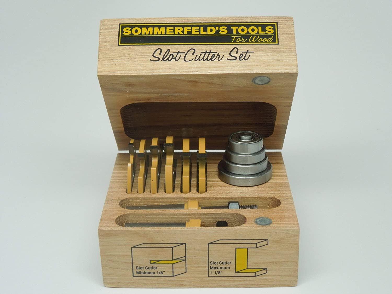 Sommerfeld's 12 Piece Three Wing Slot Cutter Set, 1/2-Inch Shank 81UyB6nroTLSL1500_