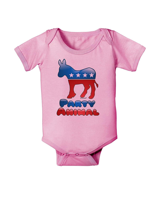 TooLoud Democrat Party Animal Baby Romper Bodysuit