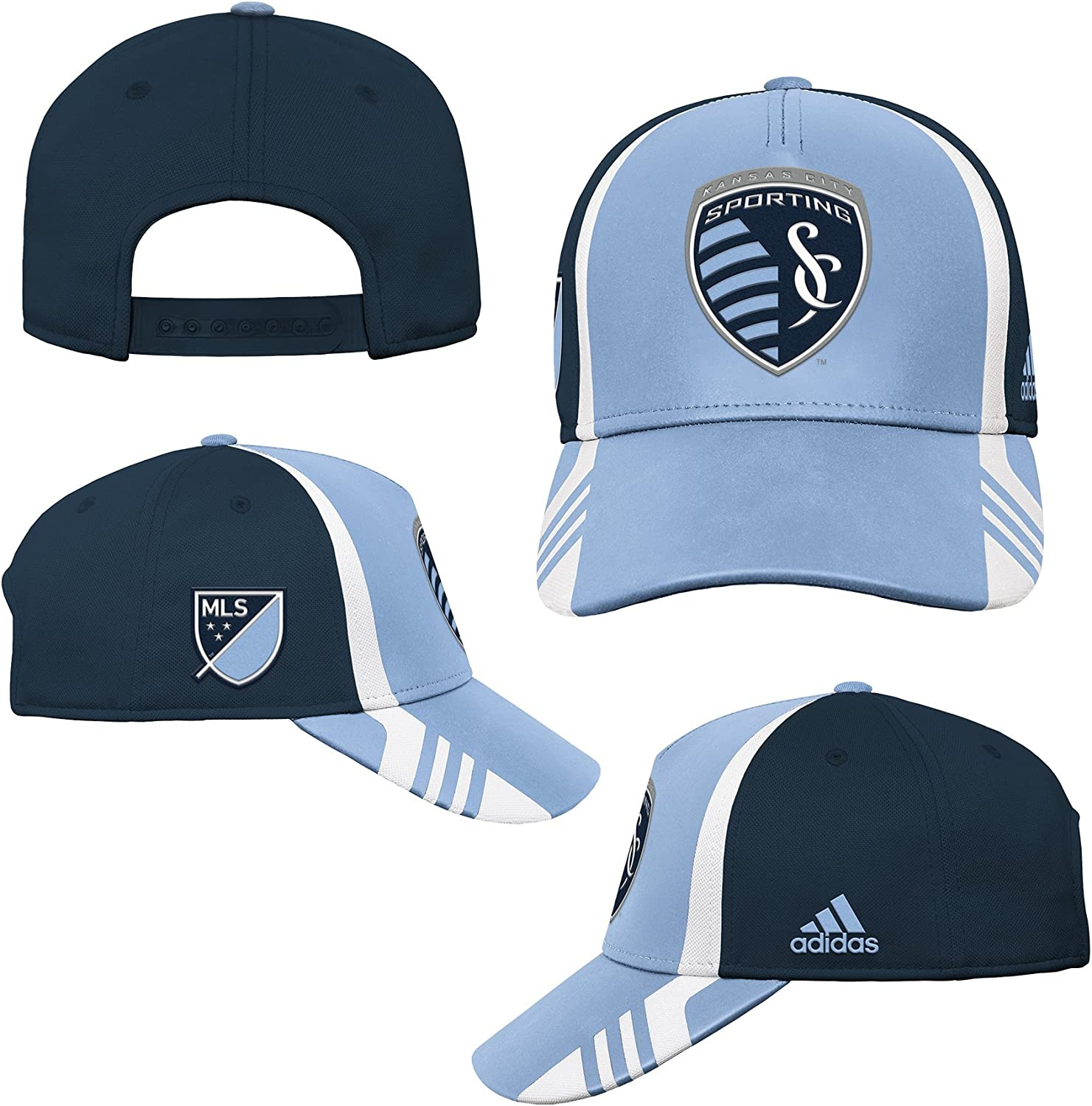 MLS by Outerstuff Structured Adjustable Hat Smoke Blue Youth Boys 1 Size