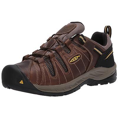 KEEN Utility Men's Flint II Low Soft Toe Non Slip Work Shoe Construction, Cascade Brown/golden rod: Shoes