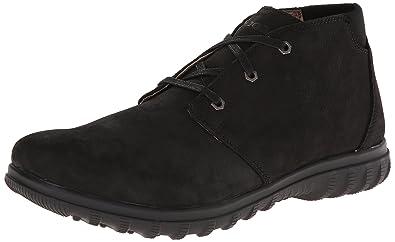 Bogs Men's Eugene Chukka Waterproof Leather Boot, Black, 11.5 D(M) US
