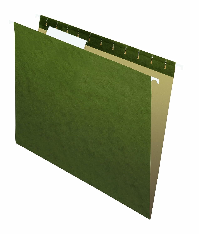 Pendaflex Essentials Hanging Folders, Letter, Standard Green, 25/Box 81600C
