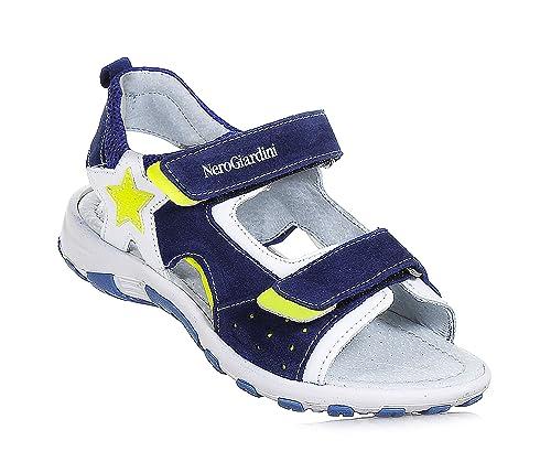 Sandalo Nero P933610m BambinoAmazon Junior Velcro Giardini it On0Pwk