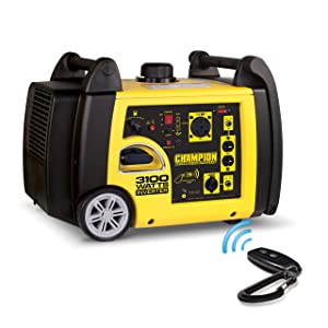 Champion 7537i 3100 watt remote start generator