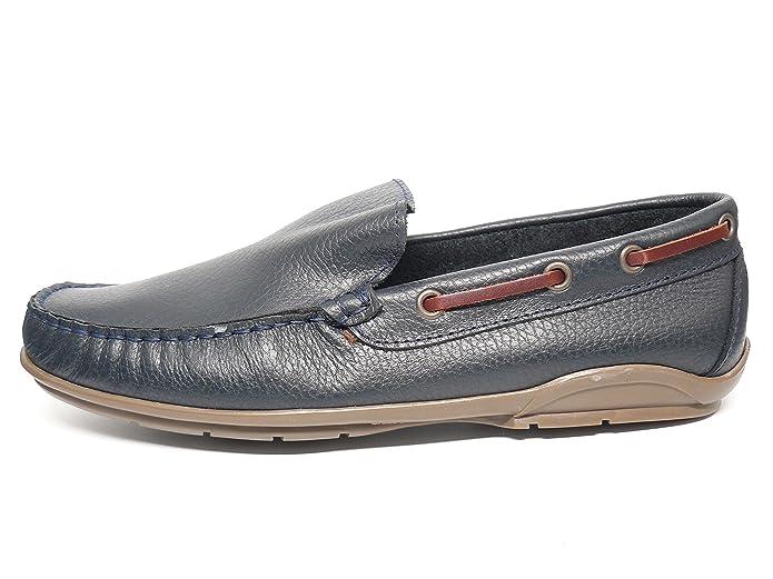 Zapato Casual Hombre Tipo Mocasin DELTELL en Piel Color Azul Marino ...