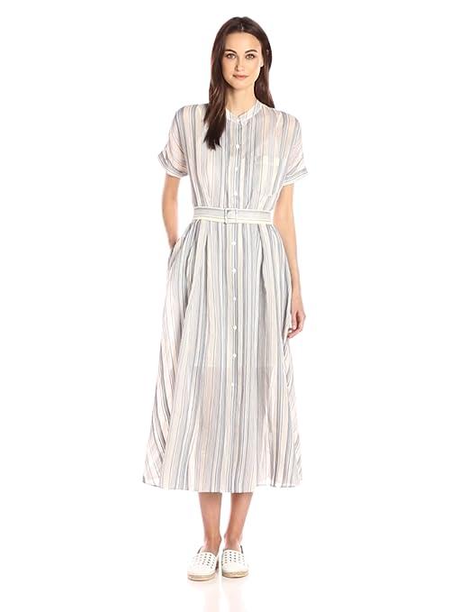 1940s & 1950s Style Shirt Dresses, Shirtwaist Dresses Theory Womens Avinka Vall Stripe Dress $149.99 AT vintagedancer.com