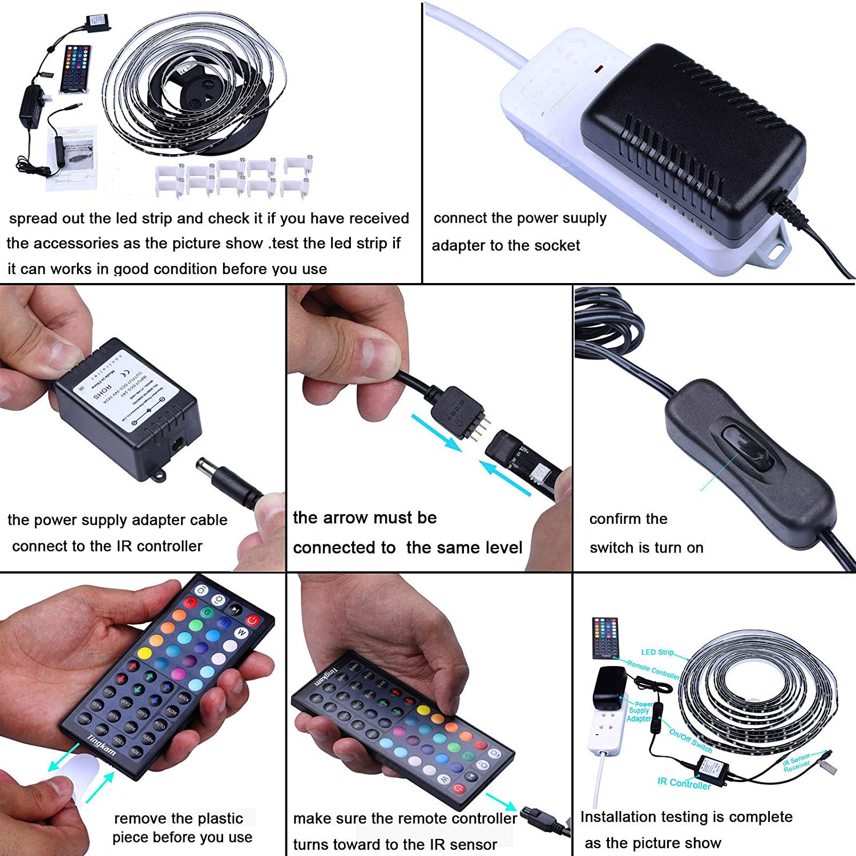 Color Changing Black PCB Rope Lights Kit Black Tingkam Waterproof 5050 SMD RGB LED Strip Light Kit
