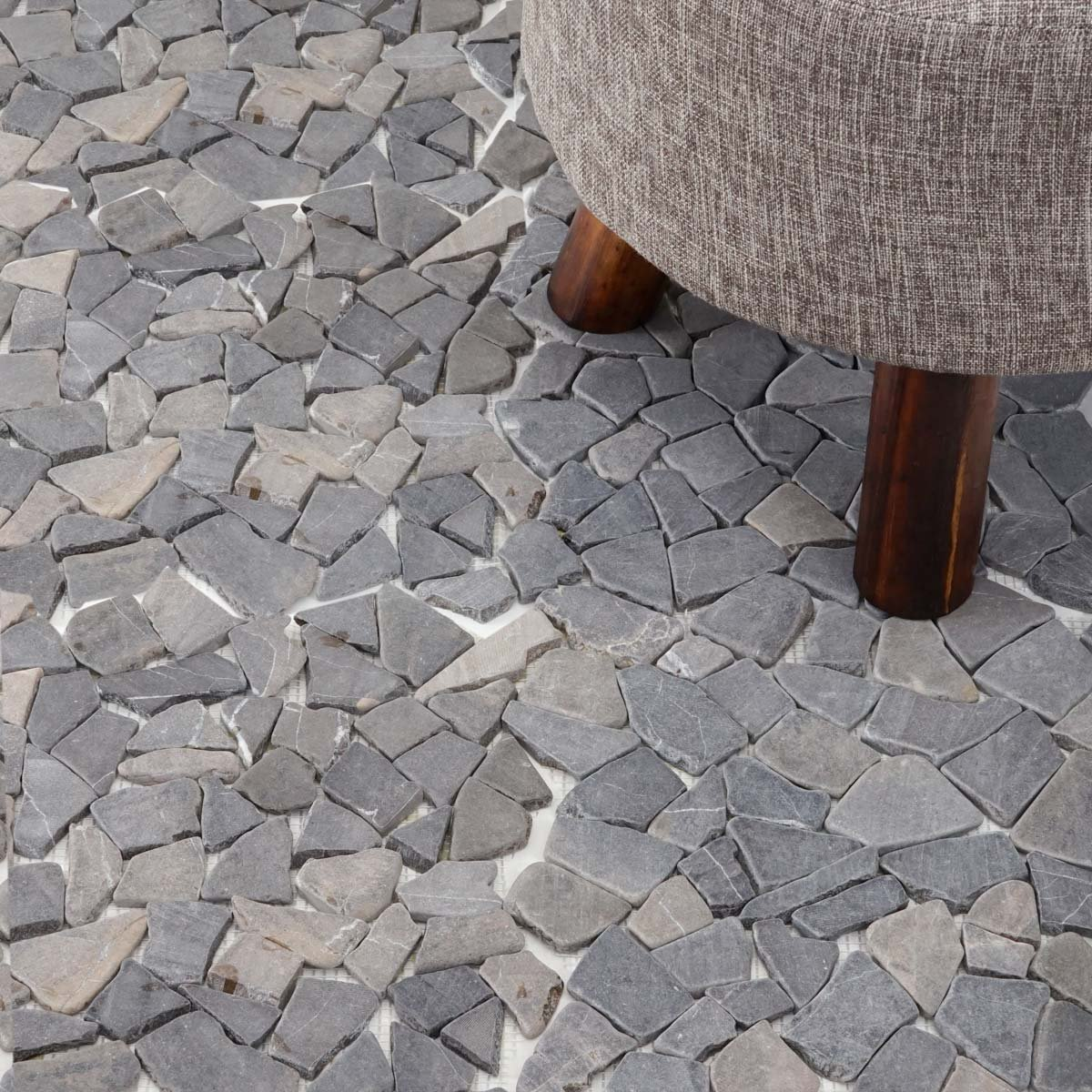 Mendler Piastrelle per Pavimento e Parete Vigo T687 Marmo Mosaico 30x30cm 11 Pezzi 1mq ~ Grigio