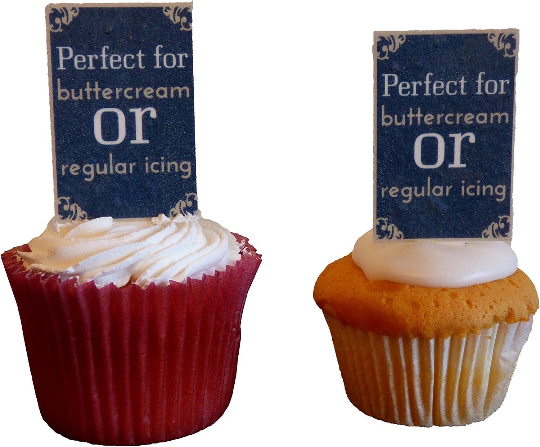 Pack of 72 D/écorations comestibles pour cupcakes Th/ème Emoji///émoticones