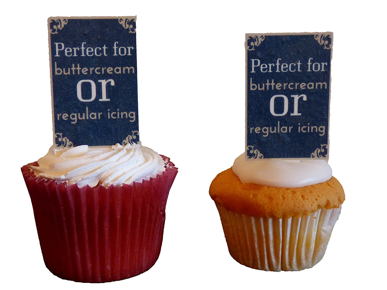 Edible Cupcake Toppers Made4You Class of 2019 Graduation Chalkboard Stand-up Wafer Cake Decorations Pack of 12