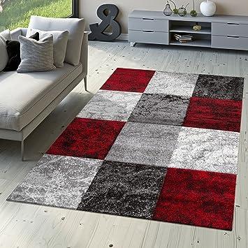 T T Design Designer Teppich Valencia Modern Mit Marmor Optik Kariert