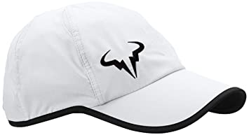a9ddd230c Mens Nike Rafa Bull Logo Dri-Fit Featherlite Tennis Hat White/Black ...
