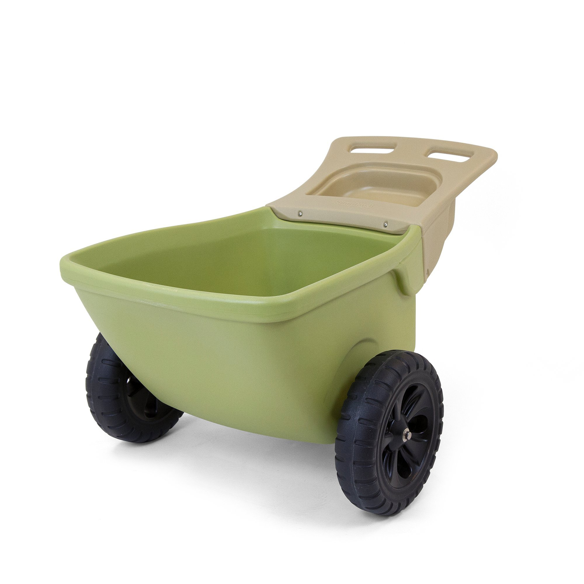 Simplay3 Easy Haul Plastic Wheelbarrow w/Garden Tool Storage Tray, 4 cubic ft. Capacity