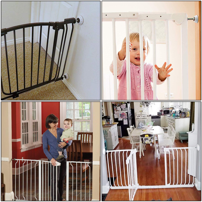 Seguridad de pared Protecci/ón 4 pieza Baby Seguridad pared Pads para Puerta de Seguridad para Ni/ños y Mascotas