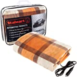 Stalwart 75-BP1011 Electric Blanket-Heated 12V Polar Fleece Travel Throw for Car, Truck & RV-for Cold Weather…