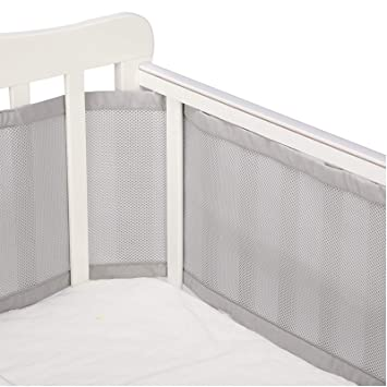 Baby Mesh Crib Bumper Soft Breathable Protector Pads for Toddler Bed