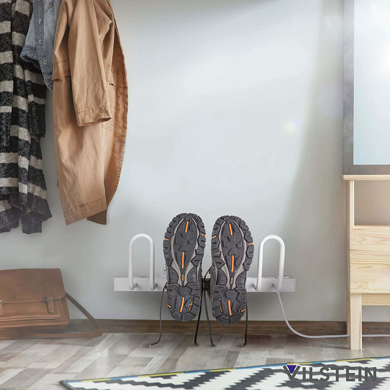 Asciugascarpe da Parete in Acciaio Inox Colore: Bianco VILSTEIN