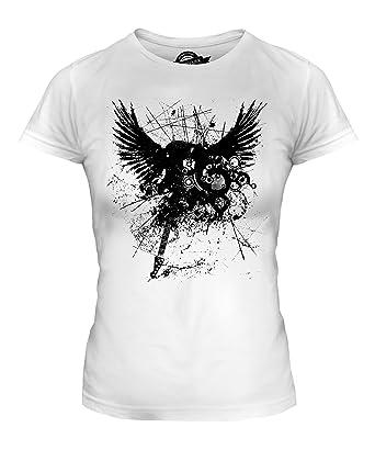 Candymix Tatouage Guitare Electrique T Shirt Femme Amazon Fr