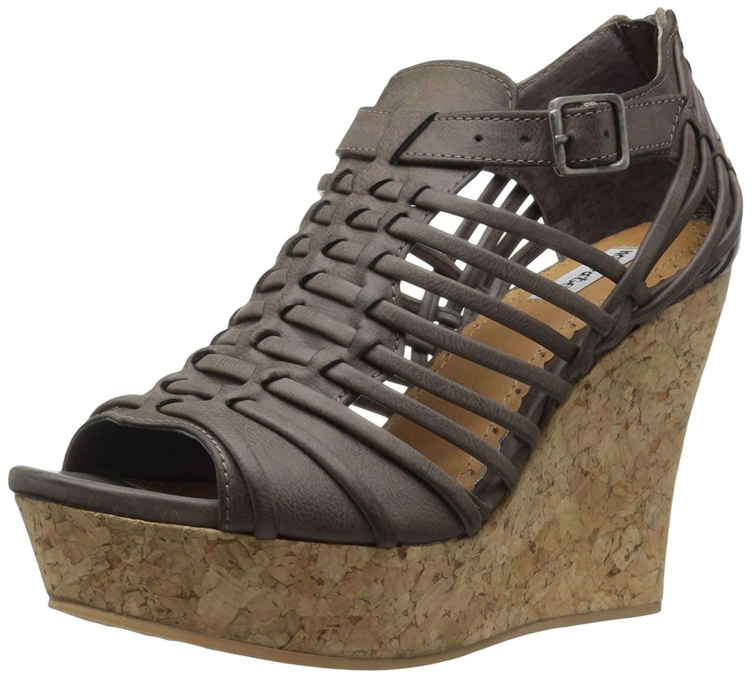 Not Rated Women's Jolina Wedge Sandal B01MG5NP62 9.5 B(M) US|Taupe