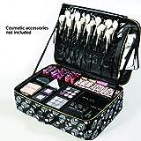 ROWNYEON Mini Makeup Train Case/Travel Makeup Case/Makeup Organizer Bag