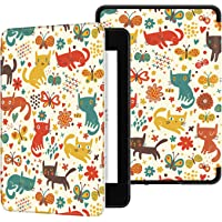 Ayotu Water-Safe Case for Kindle Paperwhite 2018 - PU Leather Smart Cover with Auto Wake/Sleep - Fits Amazon All-New Kindle Paperwhite Leather Cover (10th Generation-2018),K10 The Cat