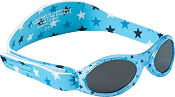 Boys Toddler Sunglasses with Velcro Strap Blue Sun Protection NEW BNWT
