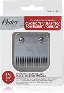 Oster Professional Detachable Clipper Replacement Blade, Size #1 1/2 (4 mm)
