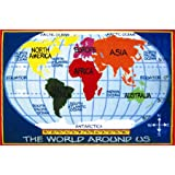 Fun Rugs FT-167 0811 Kids World Map Area Rug, 8-Foot by 11-Foot