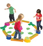 Edx Education Step-a-Forest - in Home Learning Supplies for Kids Physical Play - 22 Piece Obstacle Course - Indoor and Outdoor - Exercise and Gross Motor Skills - Coordination