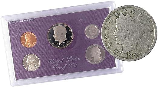 1987 S Proof Sets in Original Box 5 Coins US San Francisco Mint