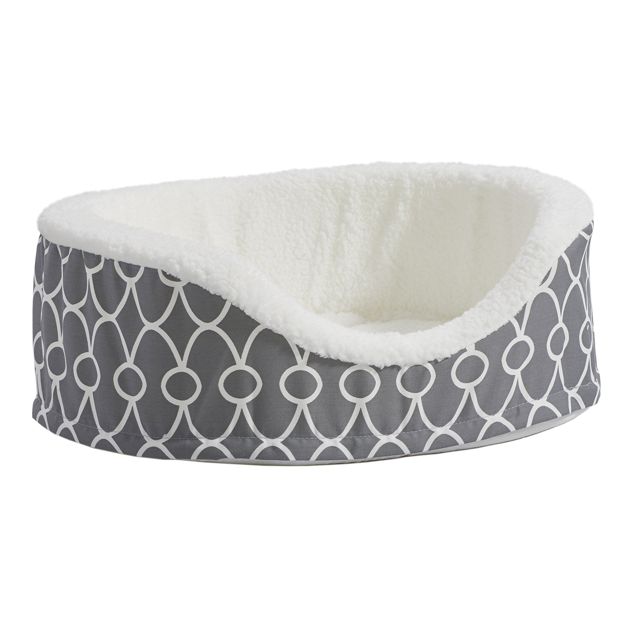 MidWest Homes for Pets Orthoperdic Egg-Crate Nesting Pet Bed w/Teflon Fabric Protector, Small Gray