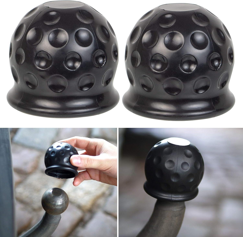 3er Pack 50mm Tow Bar Ball Abdeckkappe Auto Anhängerkupplung Abdeckung Deckel