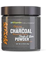 Natural Whitening Tooth & Gum Powder with Activated Charcoal (2.75 oz)