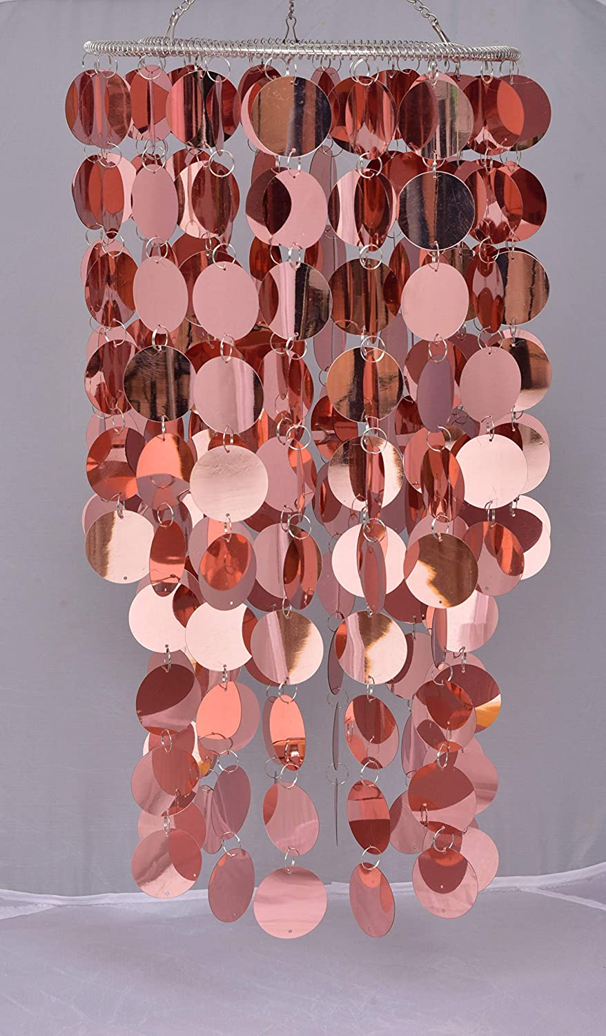 FlavorThings Bling Hanging Chandelier Great idea for Wedding Chandeliers Centerpieces Decorations and Any Event Party Decor (Rose Gold)