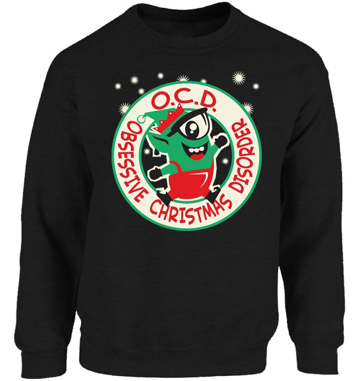 Vizor O.C.D. Obsessive Christmas Disorder Sweatshirt Ugly Christmas ...