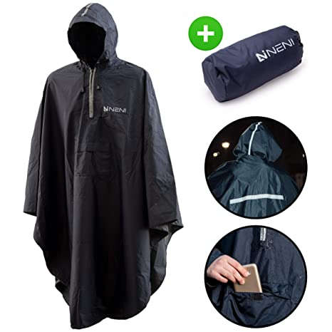 Light Weight Rain Coat Jacket Mac Waterproof Festival Camping Hiking Hooded Cape