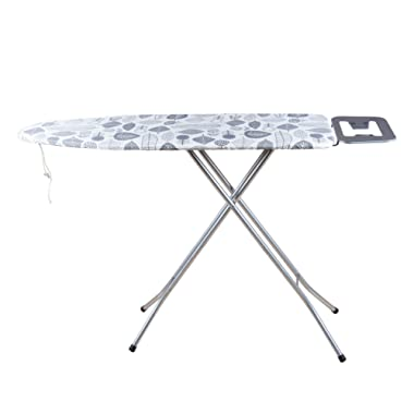 Viasonic Basic+ Standard Ironing Board - Large Surface - Sturdy Legs - Iron Rest - Cotton Poly Cover & Mesh Surface Board by Unity