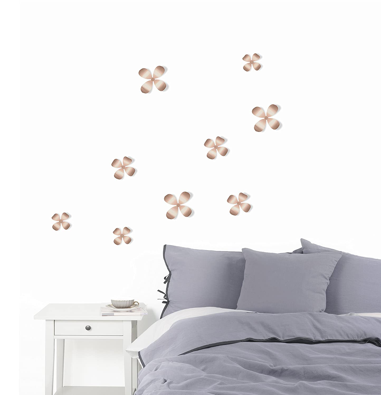 Amazon Umbra Wallflower Metal Wall Decor Copper Set Of 9