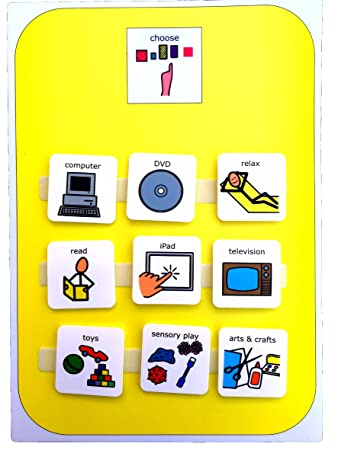 Visual Activity Choice Board Aac Picture Communication Symbols