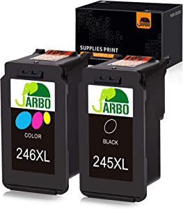 JARBO Compatible Ink Cartridge Replacement for Canon Pg-245Xl Cl-246Xl PG-243 CL-244 Combo Pack, 1 Black+1 Tri-Color, for Canon PIXMA MG2520 MG2522 MG2525 MG2920 MG3020 MG2922 MG2924 MG2420 MX490
