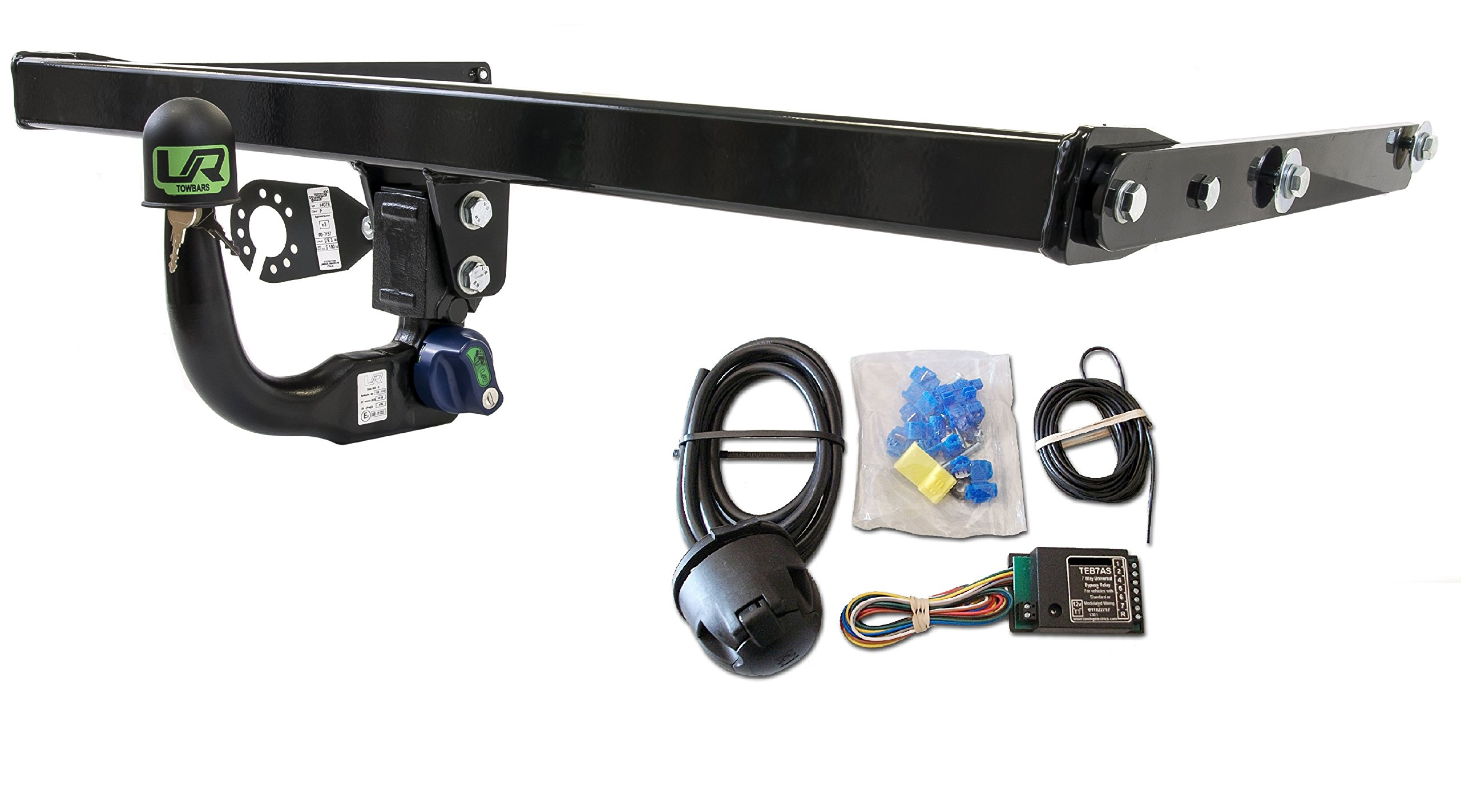 Umbra Rimorchi Fixed Swan Neck Towbar with 13 pin C2 Wiring Kit for Nissan Qashqai+2 2-4WD 2007 to 2013 UT260COR29ZFM//WU403UK2