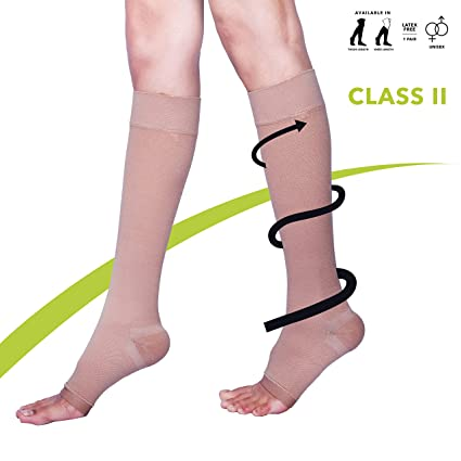 55ae32adb5029 Buy Sorgen Classique (Lycra) Medical Compression Stockings for Varicose  Veins Class 2 Knee Length in Eco-Friendly Zip Pouch. (Medium) Online at Low  Prices ...