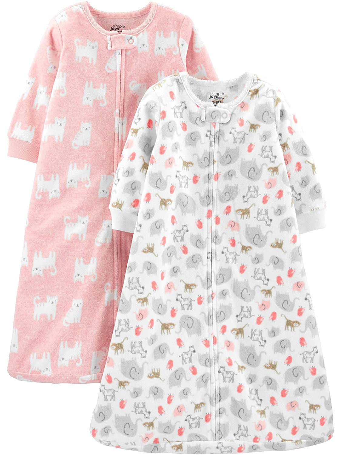 Simple Joys by Carters Baby Girls Microfleece and Cotton Sleepbags