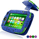 LeapFrog LeapPad Platinum Case, ACdream LeapFrog Leap Pad Platinum Tablet Leather Case Multi Function Cover With Stand (only Fit 2015 Release LeapPad Platinum Tablet) , Dark Blue Pattern