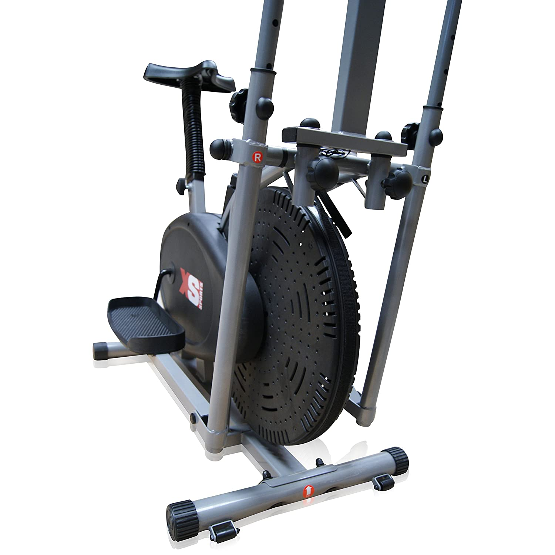 Bicicleta 2 en 1 estática y elíptica de Pro Xs Sports, para entrenamiento, ejercicio, fitness, cardiovascular, perdida de peso, aparato con asiento y ...