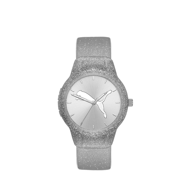 Puma Reset - Reloj V2 de Plata con Correa de Silicona para Mujer ...