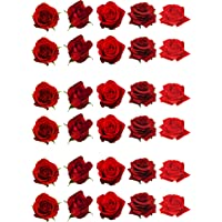 35 Gorgeous Mixed Color Rojo Rosa Flor Decoración de Pasteles papel comestible