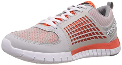 new styles bc51b 77948 Image Unavailable. Image not available for. Colour  Reebok Boy s Zquick  Electrify Steel, Orange, Grey ...